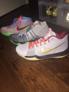 Then there's my trio: Kyrie 1