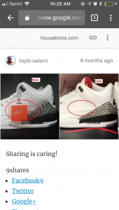 d8df39b8c3ad7 Jordan 3 free throw line fake or real got from stock x
