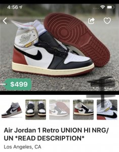 955de9ef6b16 Air Jordan 1 x UNION LA Thread