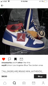 87a7bbeaaa8 Jordan 1 x Union 'Blue Toe' fake check | NikeTalk