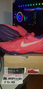 """8c10129ee8b0 Nike Kobe 8 EXT """"Year of the Snake"""" – Red 582554-600"""