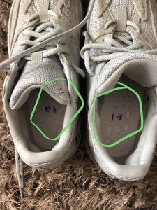 buy online 05e11 00562 Yeezy 700 salt from goat. Super strange pair | NikeTalk