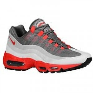 51a3cc2b064 Item Information. Nike Air Max 95 No-Sew Men s Shoe Dark Grey Chilling Red-Cool  ...