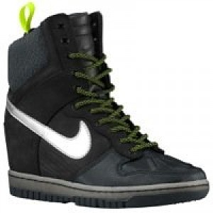 check out 6600f 401a6 Nike Dunk Sky Hi Sneakerboot - Womens - Black Anthracite Volt Metallic  Silver