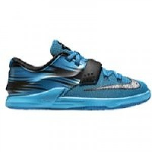 68da02eea91d Kevin Durant Nike KD 7 - Boys Preschool - Light Blue Lacquer Clear  Water Total Orange White