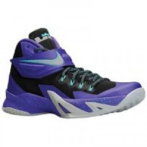 sale retailer 725a7 eb2d2 Nike Zoom LeBron Soldier VIII Men s Basketball Shoe - Cave Purple Hyper  Grape Hyper Turquoise Metall